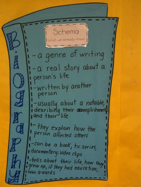 biography book 4th grade 17 best images about library anchor charts on pinterest