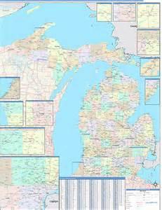 Michigan Zip Codes Map by Michigan Zip Code Map