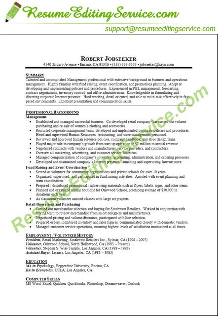 Targeted Resume Exle by Professional Targeted Resume Editing Service Resume Editing Service