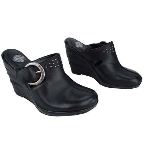 harley davidson clogs for womens new harley davidson leather womens platform clogs ebay