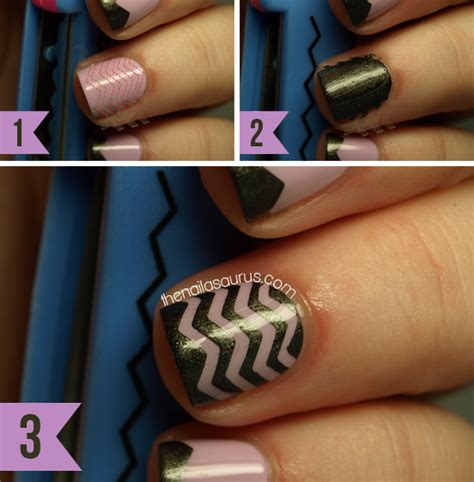 easy nail art with tape step by step simple nail designs step by step with tape www imgkid