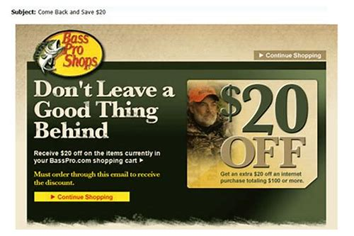 bass pro shop coupons deals