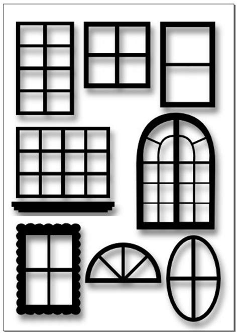 window silhouettes template printable windows calendar template 2016
