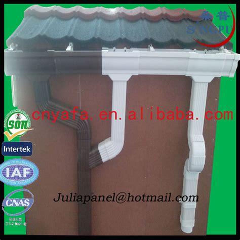 plastic dakgoot ronde en vierkante kleurrijke plastic pvc dakgoten pvc dak
