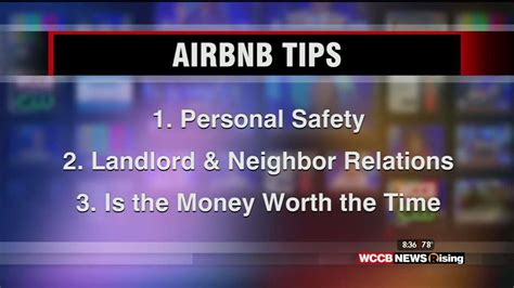 airbnb live chat 8am coach chat tips on air bnb wccb charlotte