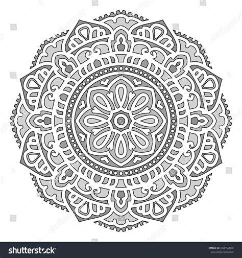 ethnic black of on grey stock vector image mandala vector ethnic circle ornament stock