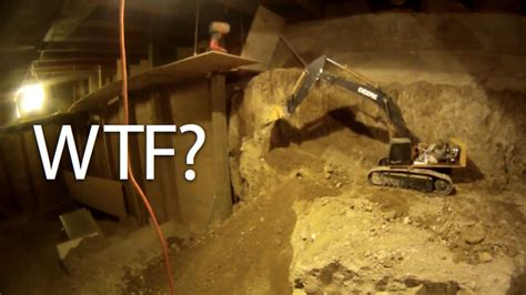 since 1997 a has been digging out his basement using