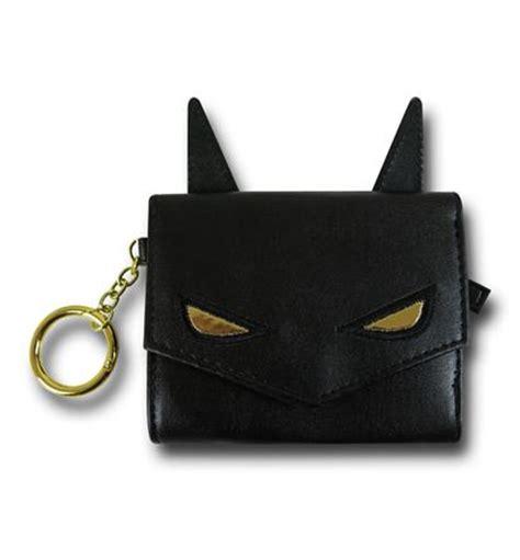 batman ears mini trifold wallet w keyring