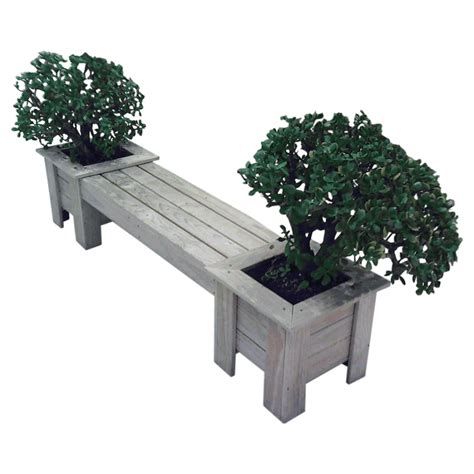 Planter Boxes With Seating by Planter Boxes Seat Combo