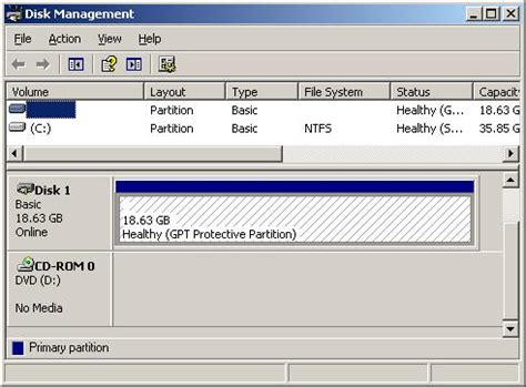 format gpt disk windows xp how to delete gpt protective partition paul gu blog