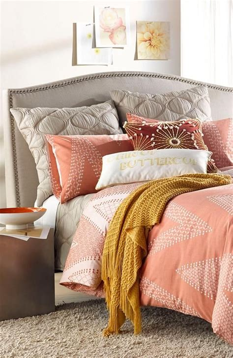 coral and gray bedding 25 best ideas about coral chevron bedding on pinterest