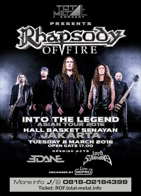 jadwal film indonesia 2016 jadwal rhapsody of fire quot into legend indonesia tour quot 2016