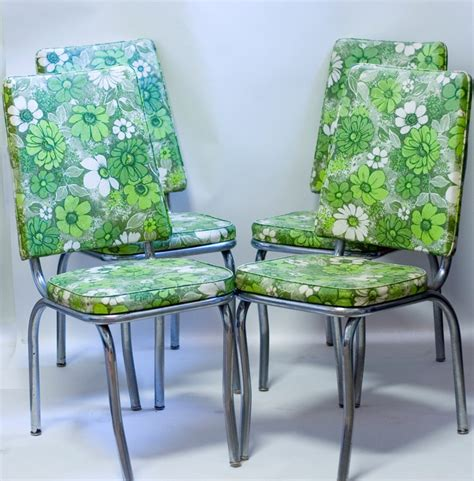 retro dining room chairs furniture s on kitchen amazing mid century chrome kitchen chairs 1960s green floral vinyl