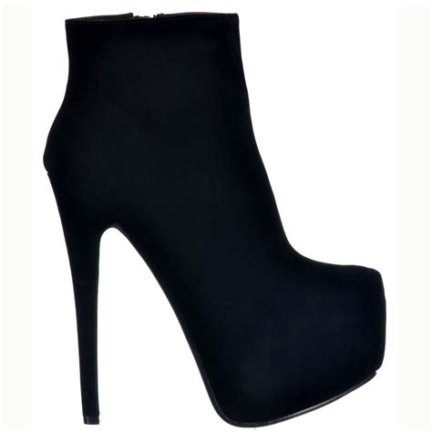 shoekandi high heel suede stiletto concealed platform