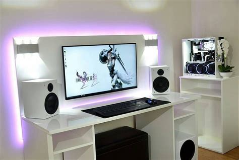 images about computer setups desks on pinterest gaming pc desk gaming desk pc pc modding gaming rigs