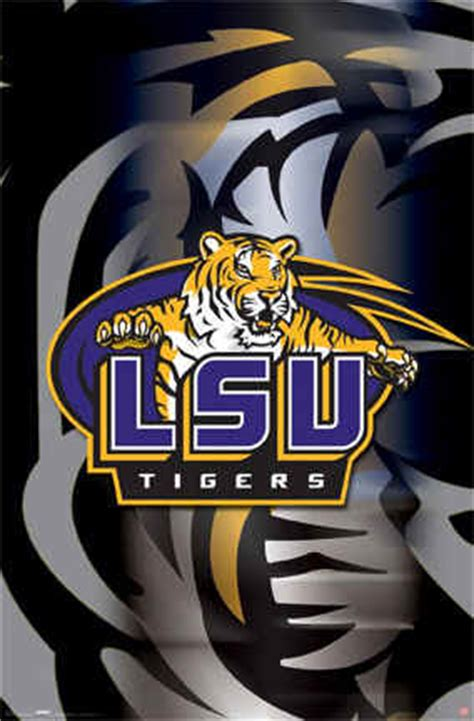 Lsu by Lsu Fighting Tigers Team Logo Art Football Sports Poster