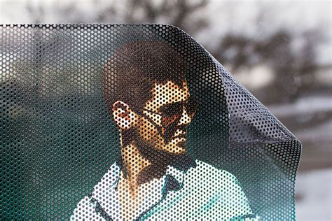 printable vinyl mesh perforated mesh vinyl with adhesive back for glass