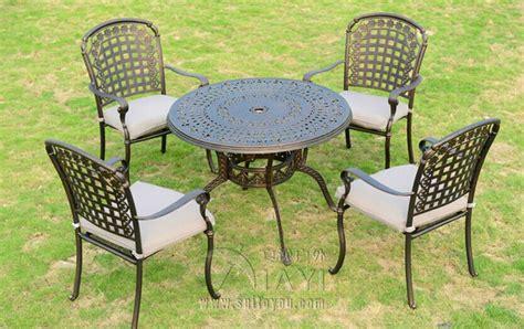 5 piece cast aluminum patio furniture garden furniture