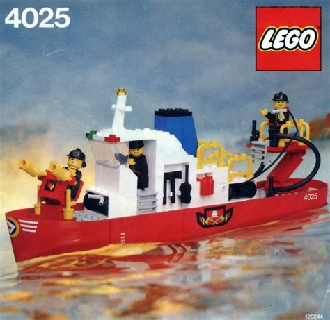 fire boat construction bricker construction toy by lego 4025 fire boat
