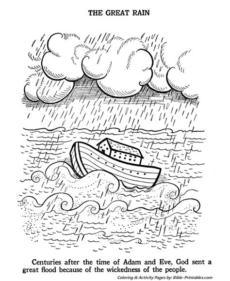 noah and the flood coloring pages coloring pages