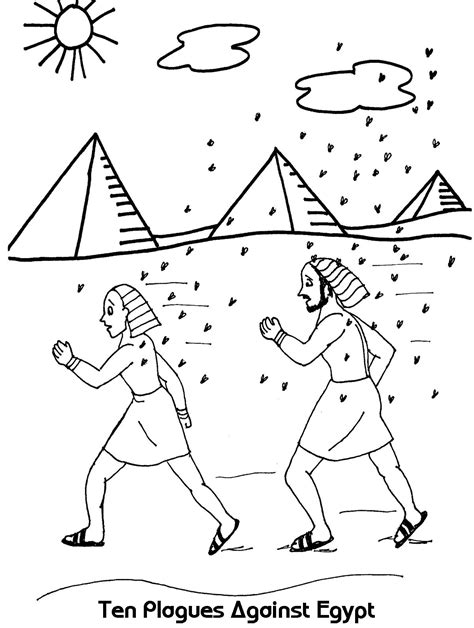 free coloring pages of moses ten plagues egypt