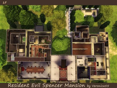 Halliwell Manor Floor Plan veronica55 s resident evil spencer mansion