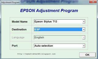 cara reset manual printer epson t13x mr 85 computer solution reset printer epson t13x menggunakan software resetter