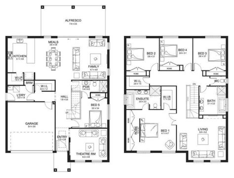 double story floor plans elegant modern double storey house plans new home plans