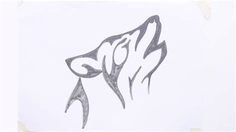How To Draw A Wolf Easy How To Draw A Wolf Head Tribal Easy Tattoos To Draw 3