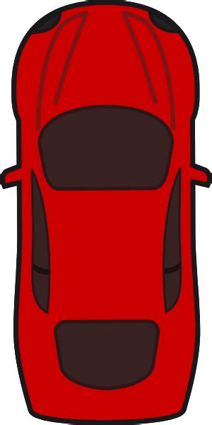 pixel car top view red car top view clip art at clker com vector clip art