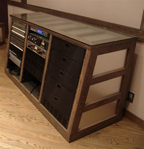Recording Studio Desk Uk by Custom Made Rolling Rack Side View Steven Klein S Sound