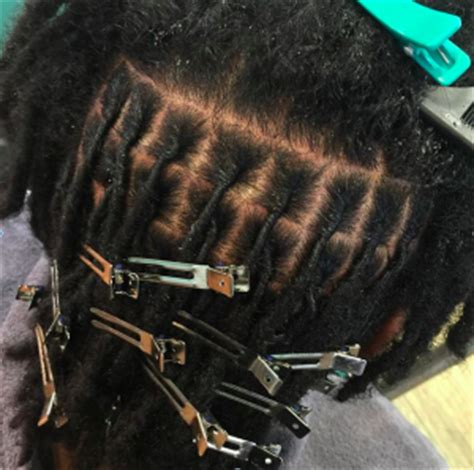 grid pattern dreads how to part your hair for starter locs curlynugrowth