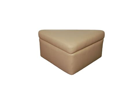corner ottoman glastop marine furniture custom yacht boat