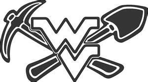 new! wvu coal miner pick & shovel decal sticker fast free