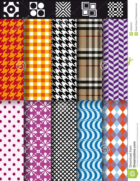 pattern fashion vector seamless fashion patterns vector set stock photo image