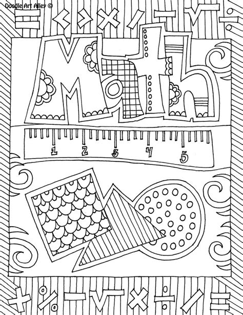 Coloring Pages School Subjects | the benefits of coloring these school subject coloring