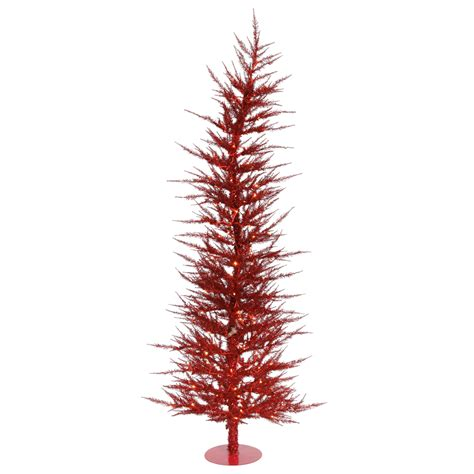 red christmas tree 4 foot red laser christmas tree red mini lights b101341