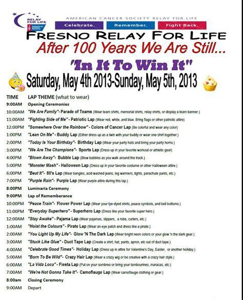 life themes list relay for life themed laps 2013 fun idea pinterest