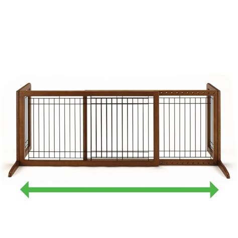 large dog gates for house amazon com richell wood freestanding pet gate large autumn matte finish indoor