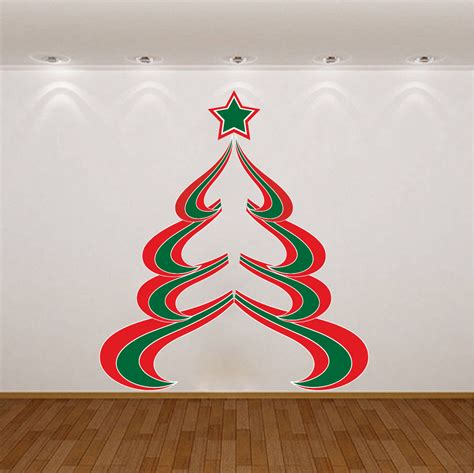 christmas tree decal christmas wall decal christmas wall