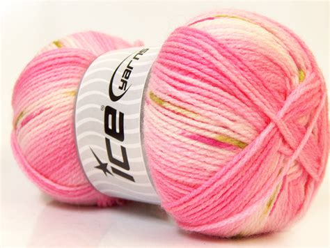 Benang Rajut Acrylic Putih benang rajut impor baby pink white green 03 crafts