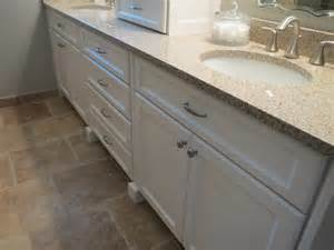 custom built in master bathroom dresser and vanity