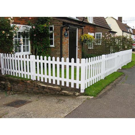 picket fences white primed picket fencing frodsham gates and fencing direct