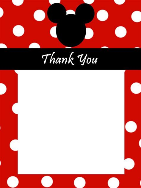 Mickey Mouse Thank You Card Template by 17 Best Images About Ideas On Mickey