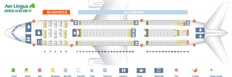 airbus a332 seat map seat map airbus a330 200 aer lingus best seats in plane