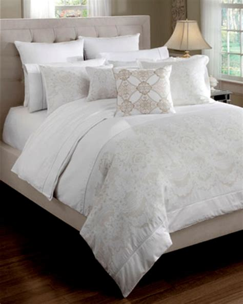 Croscill Townhouse Comforter by Camille White Bedding Ensemble By Croscill Townhouse Linens
