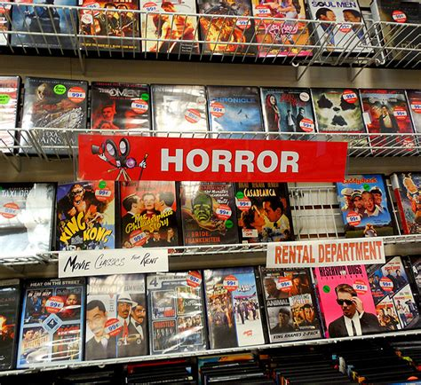 horror section the last video store in the world dinosaur dracula