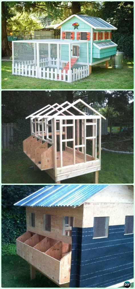 diy wood chicken coop  plans instructions