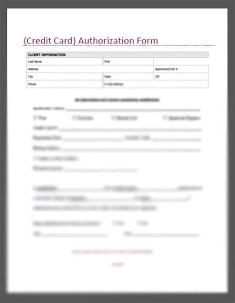Credit Card Authorization Form Template Word Doc Credit Card Authorization Form Template Peerpex