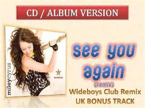 See You Again Miley Cyrus Remixed by See You Again Wideboys Club Remix Miley Cyrus